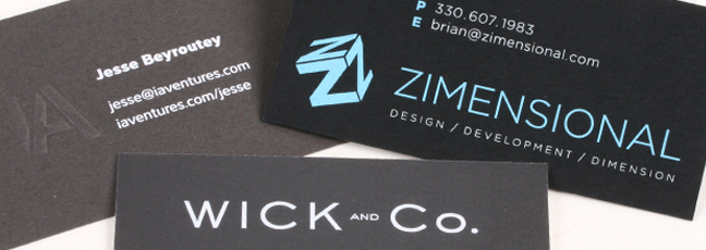 Business Card Engraving and Printing